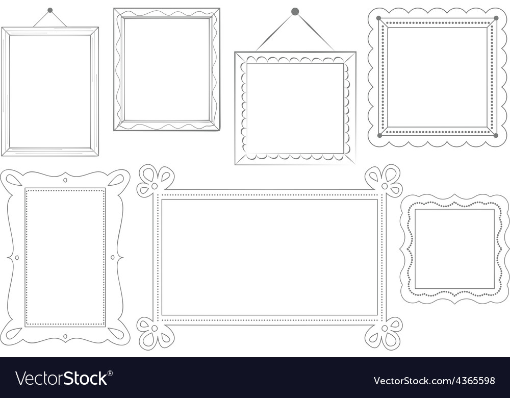 Sketched doodle frames vector | Price: 1 Credit (USD $1)