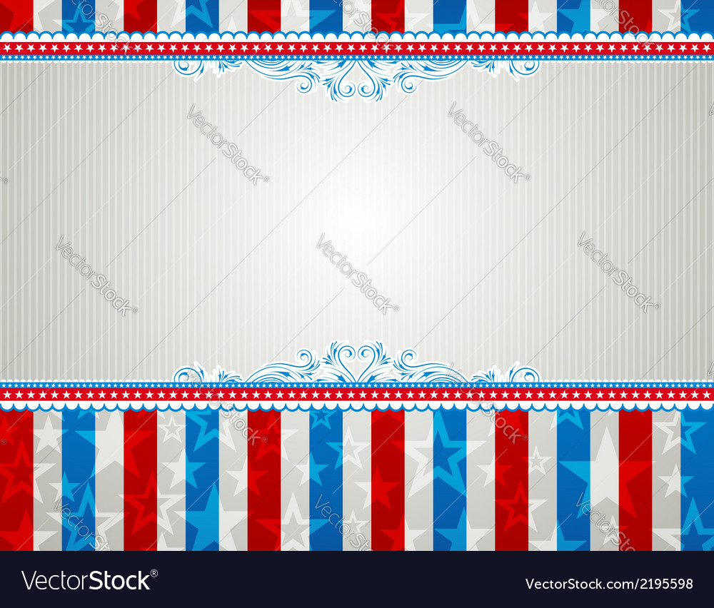 Usa background with stars and decorative frames vector | Price: 1 Credit (USD $1)