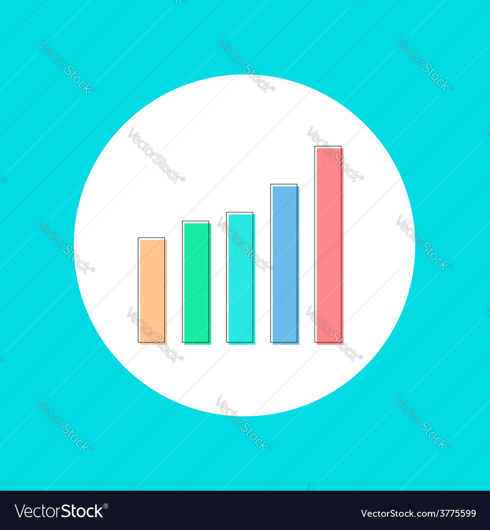 Colored graph in stroke-style vector | Price: 1 Credit (USD $1)