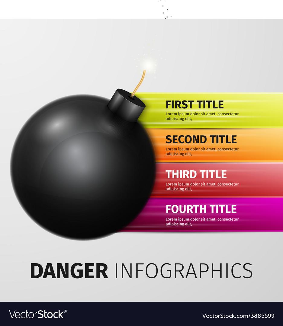 Danger infographics vector   Price: 1 Credit (USD $1)