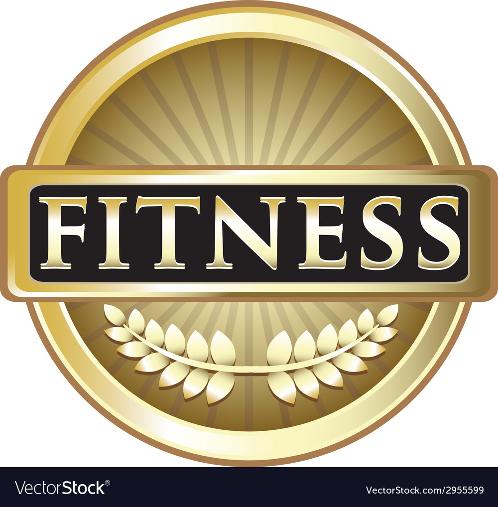 Fitness gold emblem vector | Price: 1 Credit (USD $1)