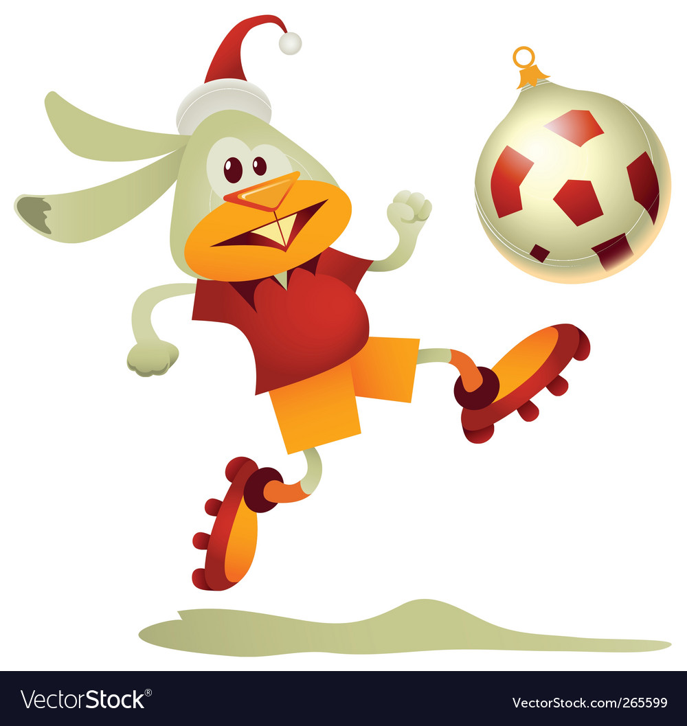 Football rabbit vector | Price: 1 Credit (USD $1)