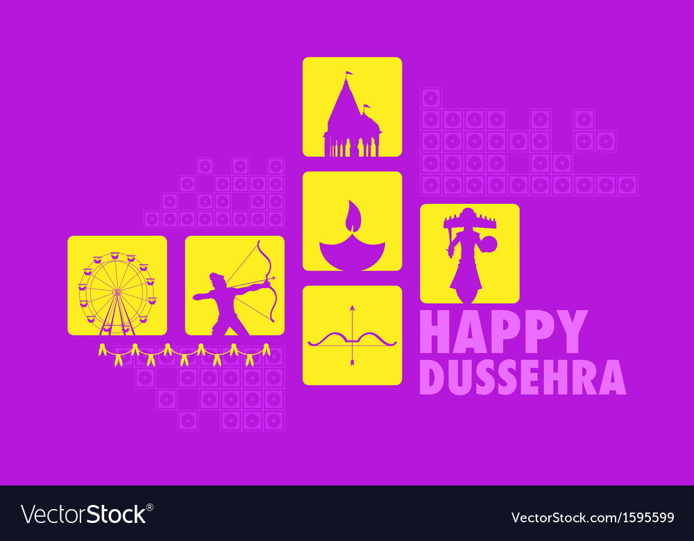 Happy dussehra vector | Price: 1 Credit (USD $1)
