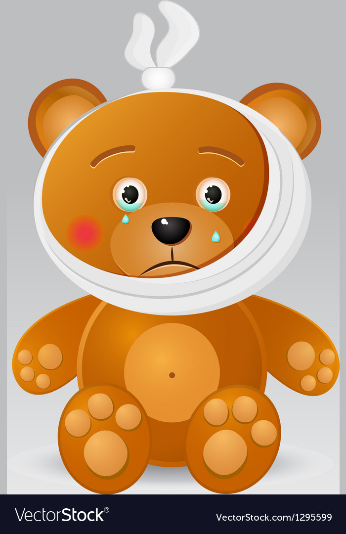 Ill bear with thermometer vector | Price: 1 Credit (USD $1)