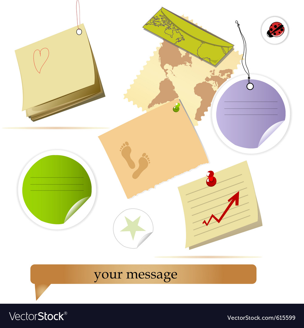 Note collection vector | Price: 1 Credit (USD $1)