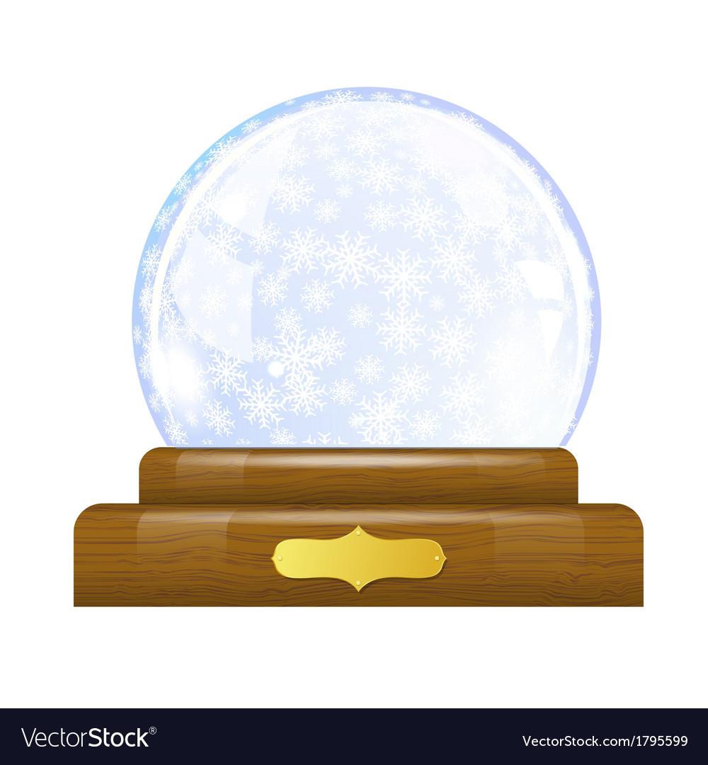 Snow globe with snowflakes vector   Price: 1 Credit (USD $1)