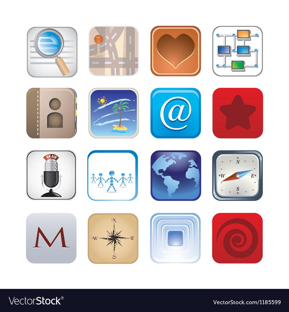 Social icon set vector | Price: 3 Credit (USD $3)