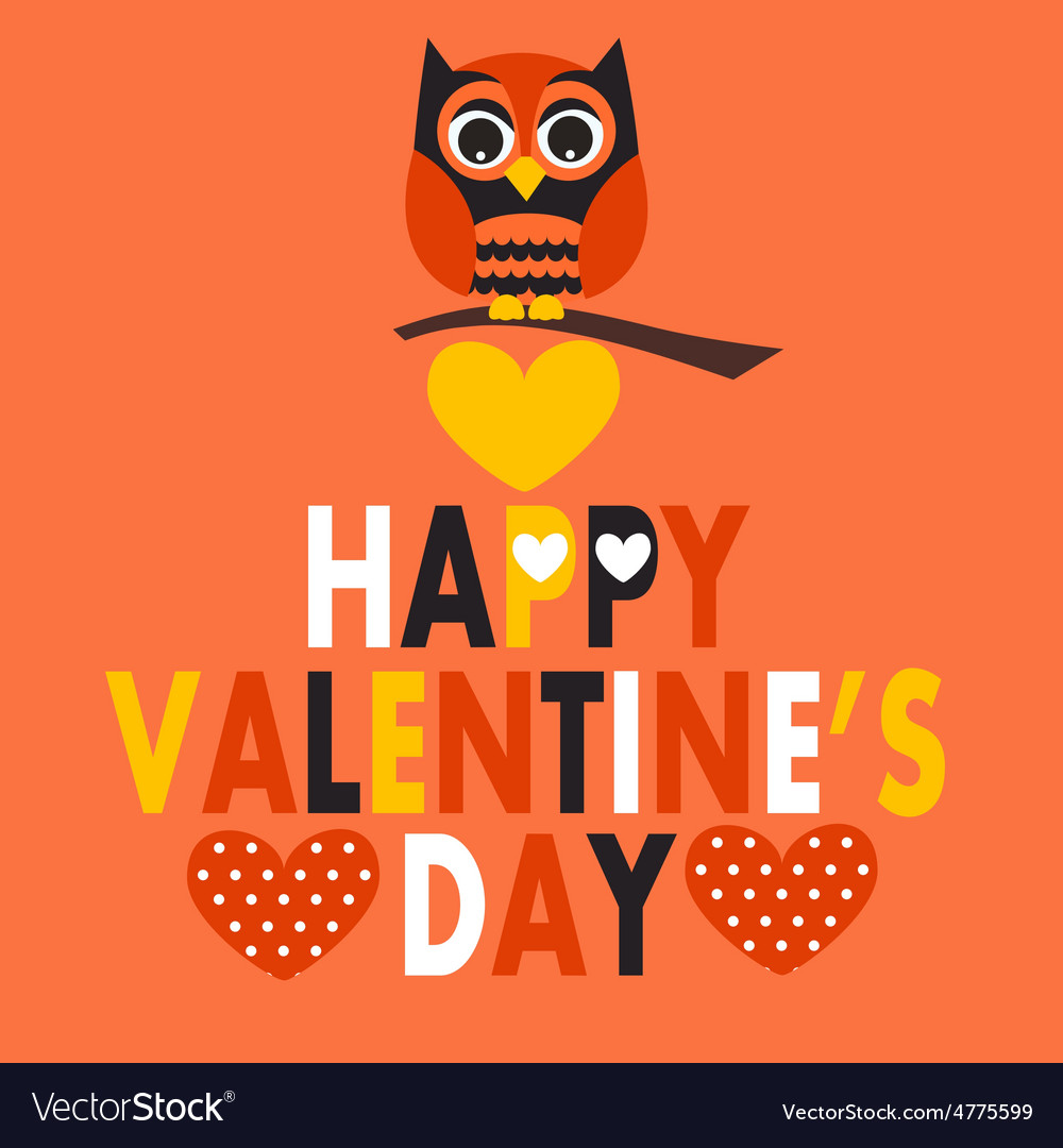 Valentines day owl vector | Price: 1 Credit (USD $1)