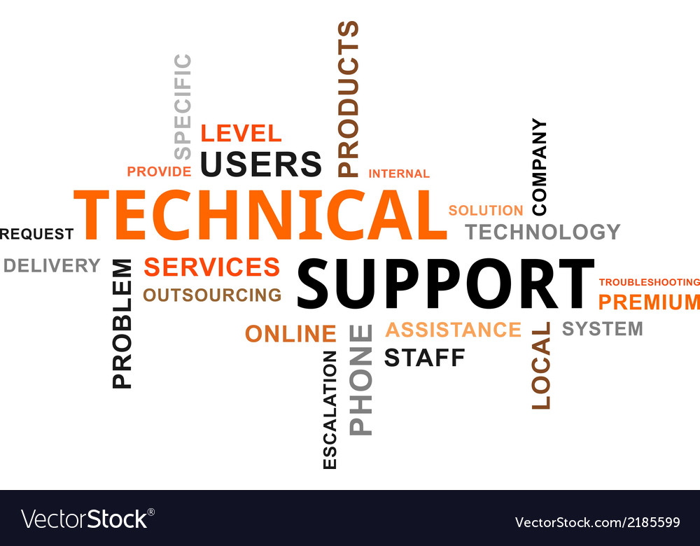 Word cloud technical support vector | Price: 1 Credit (USD $1)