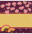 Background japanese cherry tree sakura and fans vector