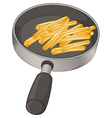 A pan with fries vector
