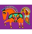 Ukrainian tribal ethnic painting unusual horse vector