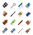 Realistic object icons vector