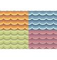 Seamless geometrical wavy pattern set vector