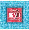Blue christmas background with sale offer vector