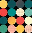 Seamless pattern of circles vector