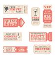 Entertainment tickets vector