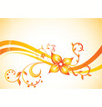 background with flower vector