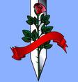 Rose and khife vector