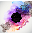 Hand drawn watercolor background with decorative vector