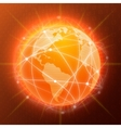 Network globe concept orange vector