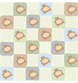 Childish seamless pattern with teddy bear vector