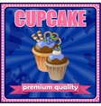 Vintage cupcake poster vector