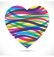 Colorful strip heart vector