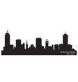 Hamilton canada skyline detailed silhouette vector