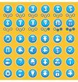 Aqua game buttons set vector