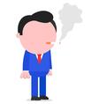 Businessman smoking cigarette vector