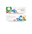 Technology colorful gears banner vector