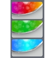 Brochure business card banner abstract background vector
