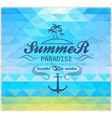 Summer geometric mosaic background vector