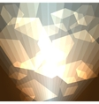 Golden cubes abstract background vector