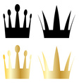 Crown symbols vector