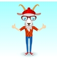 Goat hipster character vector