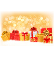 Gift boxes with bow and ribbons vector