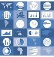 Flat design world maps graphics vector