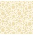 Beige floral wallpaper vector