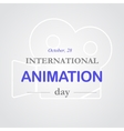 World animation day october 28 vector