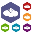 Download cloud rhombus icons vector