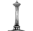 Seattle space needle vector