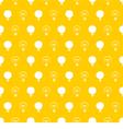 Seamless light bulbs pattern on yellow background vector