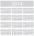 Minimalistic 2014 calendar vector
