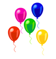 Pink green red blue and yellow balloons vector