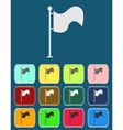 Flag icon with color variations vector