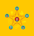 Concept of leadership community business people vector