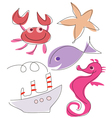 Sea marine life vector