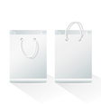 Blank shopping paper bags vector